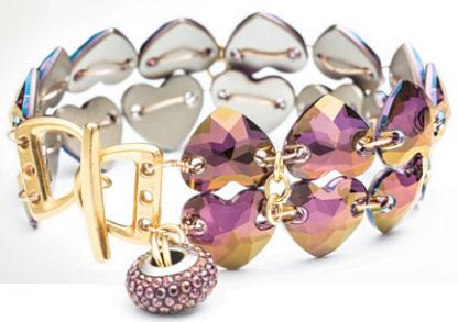 two hearts cuff bracelet