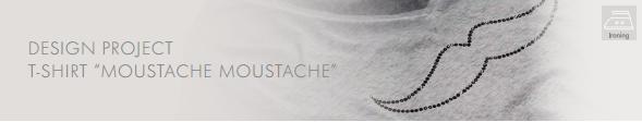 DIY Swarovski Crystal Moustache Tee Shirt Design and Free Instructions