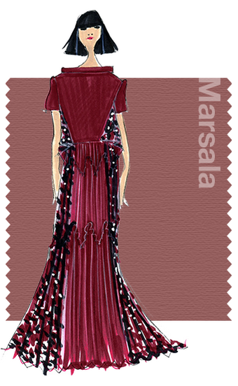 Marsala Pantone Fall Color Fashion Trends 2015