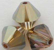 Swarovski Crystal 5328 Xilion Bicone Beads Crystal Bronze Shade