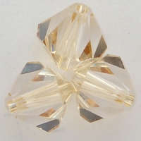 Swarovski Crystal 5328 Xilion Bicone Beads Crystal Golden Shadow