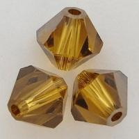 Swarovski Crystal 5328 Xilion Bicone Beads Topaz Satin