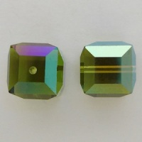 Swarovski Crystal 5601 Cube Beads Olivine AB Fall Fashion Color Trends