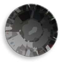 Swarovski Crystal Flat Back Hot Fix Jet Black Color