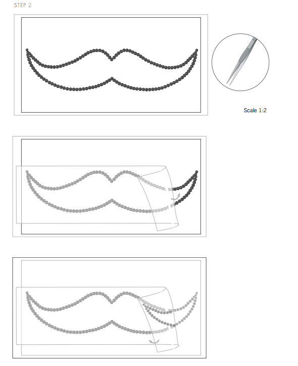 Swarovski Crystal Moustache Tee Shirt Design and Free Instructions Step 2