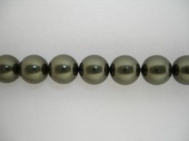 Swarovski Crystal Pearls Dark Green