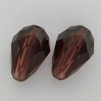 Swarovski Crystal Pearshape Beads Burgundy