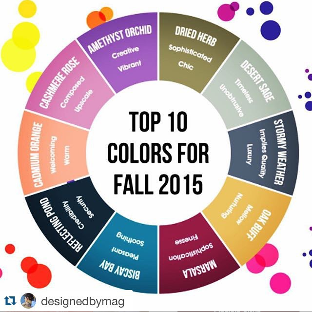 Top 10 Colors for Fall 2015