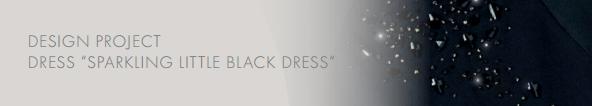 DIY Swarovski Crystal Little Black Dress Design and Instructions Step header