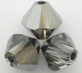 Swarovski Crystal Beads 5328_Crystal_Silver_Night