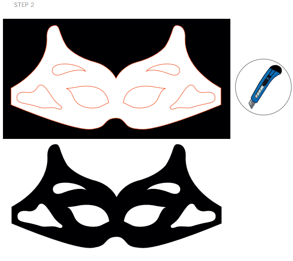 Swarovski Crystal Halloween Mask DIY Steps and instruction step 2