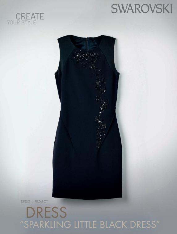 Swarovski Crystal Little Black Dress DIY