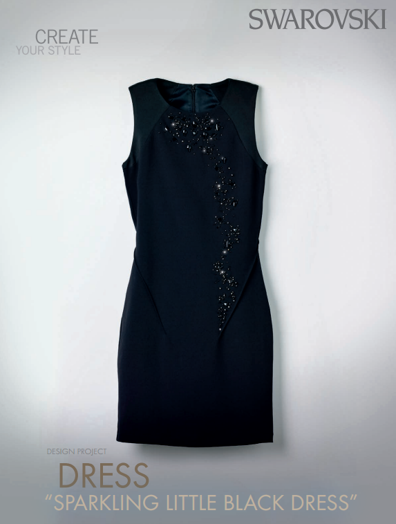 Swarovski Crystal Little Black Dress DIY