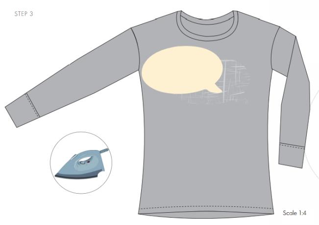 DIY Sparkle on shirt embellished with Swarovski Crystal Flatback Rhinestones jet black step by step instructions 3b