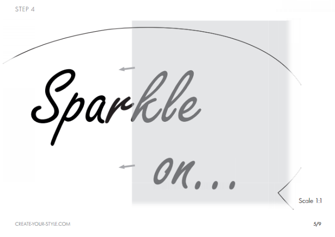 DIY Sparkle on shirt embellished with Swarovski Crystal Flatback Rhinestones jet black step by step instructions 4