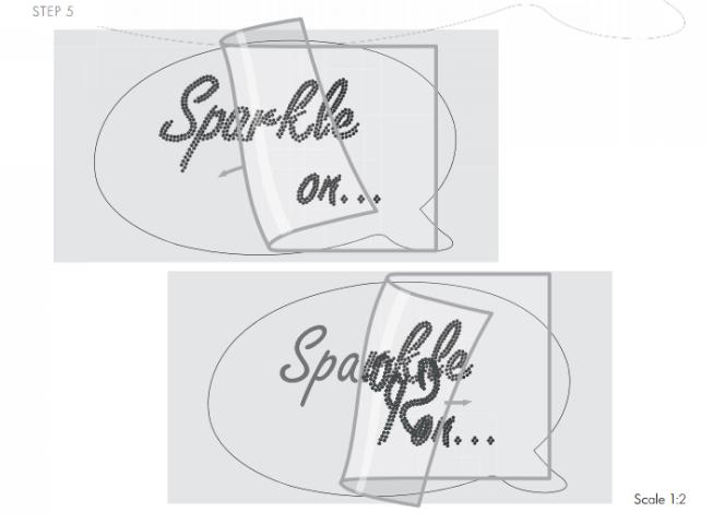 DIY Sparkle on shirt embellished with Swarovski Crystal Flatback Rhinestones jet black step by step instructions 5