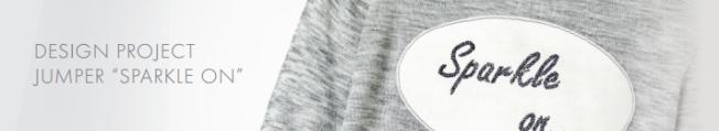 DIY Sparkle on shirt embellished with Swarovski Crystal Flatback Rhinestones jet black step by step instructions jumper