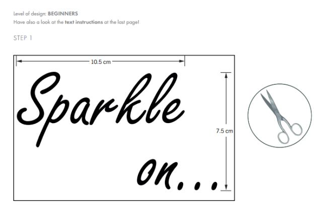 DIY Sparkle on shirt embellished with Swarovski Crystal Flatback Rhinestones jet black step by step instructions