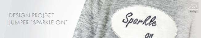DIY Sparkle on shirt embellished with Swarovski Crystal Flatback Rhinestones jet black