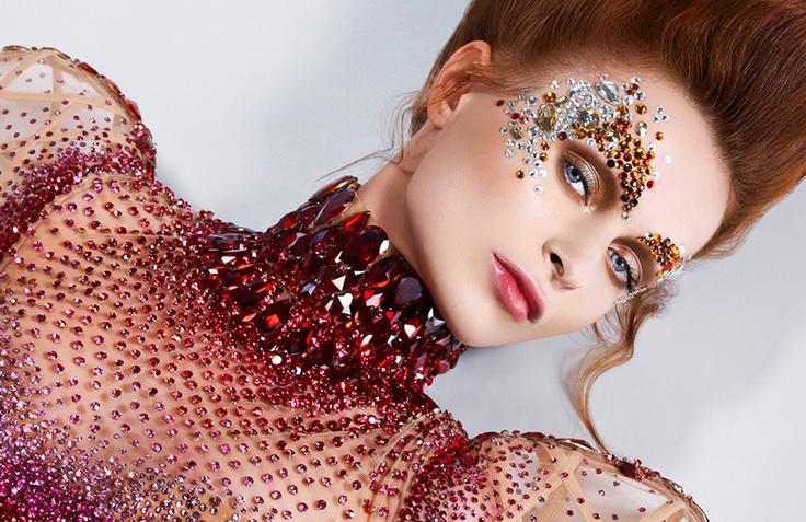 Swarovski Crystals on face