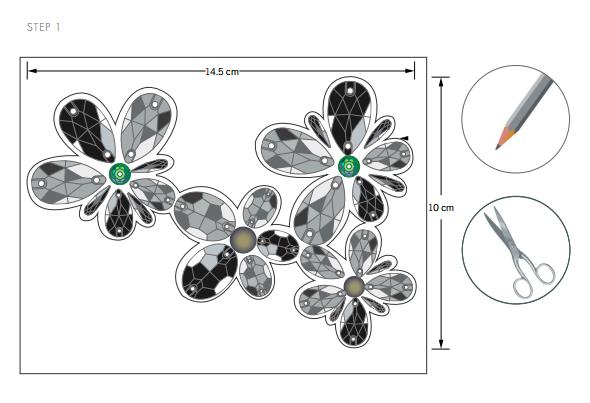 DIY Free Design and Instructions Swarovski Crystal Necklace Frozen Florets Step 1