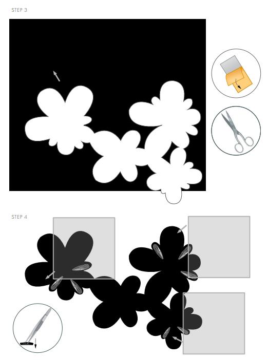 DIY Free Design and Instructions Swarovski Crystal Necklace Frozen Florets Step 3
