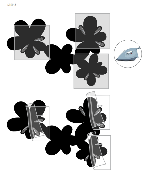 DIY Free Design and Instructions Swarovski Crystal Necklace Frozen Florets Step 4