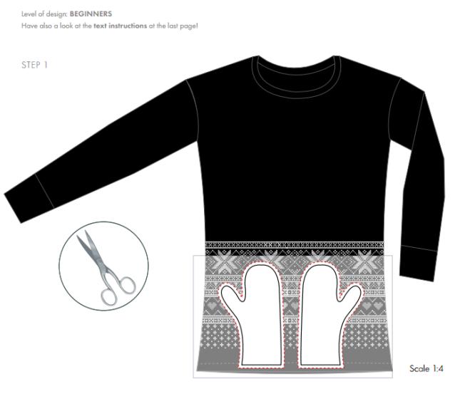 DIY Mittens with Swarovski Crystal embellishments free instructions 1