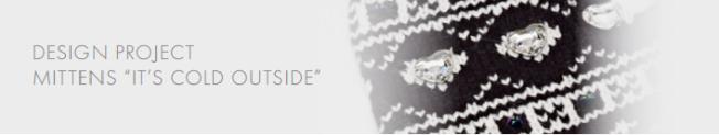 DIY Mittens with Swarovski Crystal embellishments free instructions 4