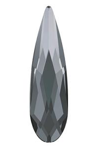Swarovski 2304 Swarovski Crystal Flatback Crystal Silver Night