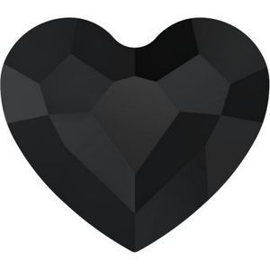 Swarovski Crystal Black Heart