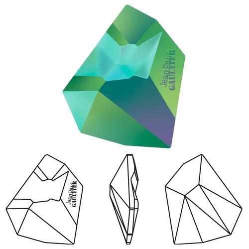 4922 Swarovski Crystal Kaputt Fancy Stone Crystal Scarabaeus Green