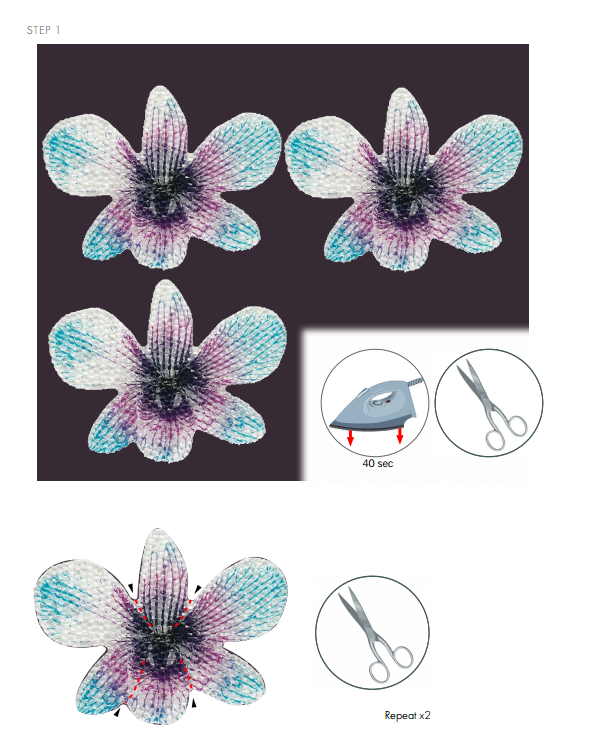 DIY Free Design and Instructions Swarovski Crystal Necklace Velvet Orchid step 1.PNG