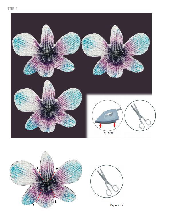 DIY Free Design and Instructions Swarovski Crystal Necklace Velvet Orchid step 1.PNG