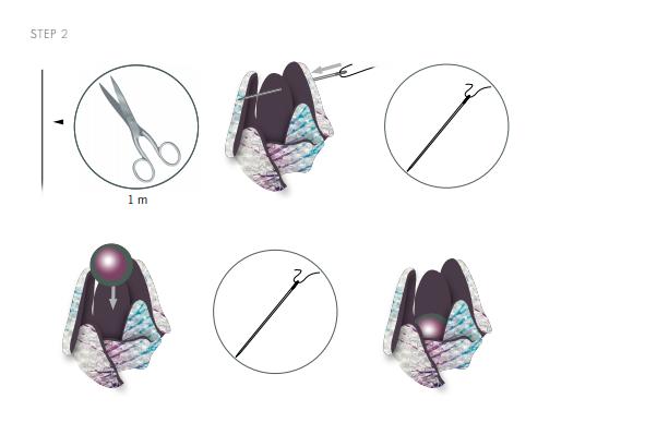 DIY Free Design and Instructions Swarovski Crystal Necklace Velvet Orchid step 2.PNG