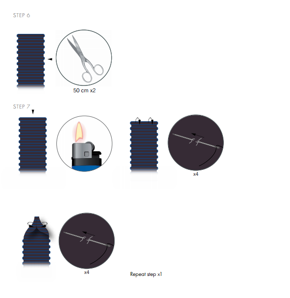 DIY Free Design and Instructions Swarovski Crystal Necklace Velvet Orchid step 6