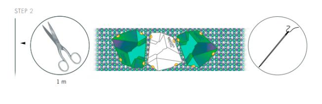 DIY Swarovski Crystal Bangle Bracelet New Design and Instructions Step 2