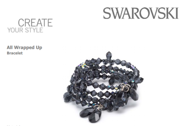 Free Swarovski Crystal Bracelet Design using New Spring Summer 2017 Innovations Graphite multi stranded bracelet 2