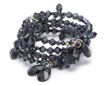 Free Swarovski Crystal Bracelet Design using New Spring Summer 2017 Innovations Graphite multi stranded bracelet