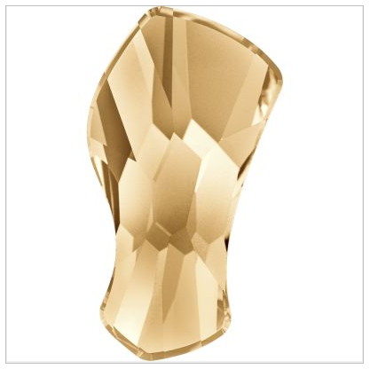 New Swarovski Crystal 2798 Contour Flatback Crystal Golden Shadwo Spring Summer 2017 Innovations