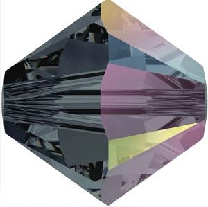 New Swarovski Crystal Color Bicone Beads Graphite AB Spring Summer 2017 Innovations