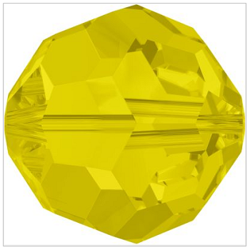 New Swarovski Crystal Color Graphite 5000 Round Beads Yellow Opal Spring Summer 2017 Innovations Image
