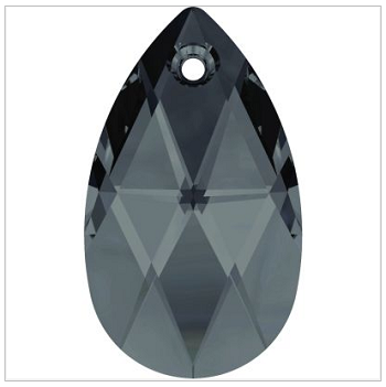 New Swarovski Crystal Color Graphite 6106 Pearshape Pendant Spring Summer 2017 Innovations image