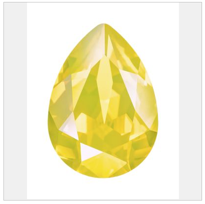 New Swarovski Crystal Color Yellow Opal  Pearshape Fancy Stone Spring Summer 2017 Innovations