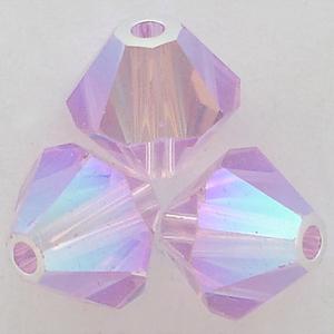 Swarovski Crystal 5328 Bicone beads in Violet AB 2X