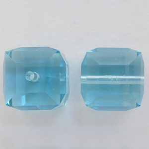 Swarovski Crystal Aquamarine 5601 Cube Beads