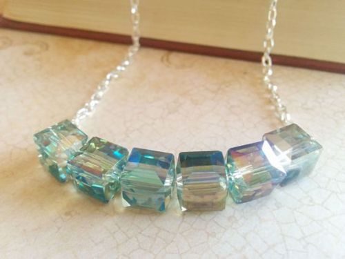 Swarovski Crystal Cube Necklace Design Inspiration