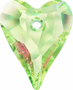 Swarovski Crystal Heart Pendant 6240_Crystal Luminous Green