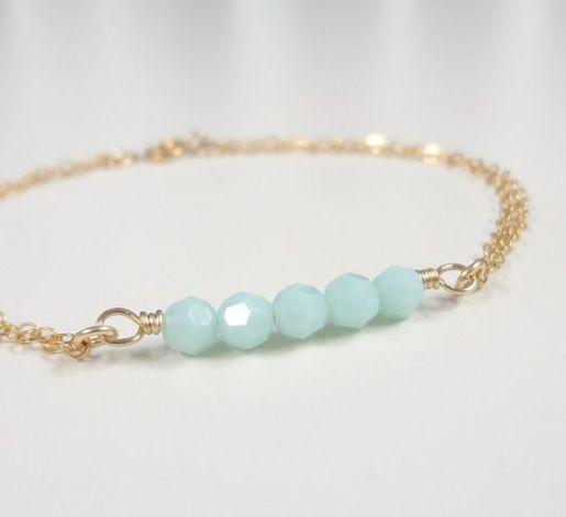 Swarovski Crystal Mint Alabaster Bracelet Design Inspiration