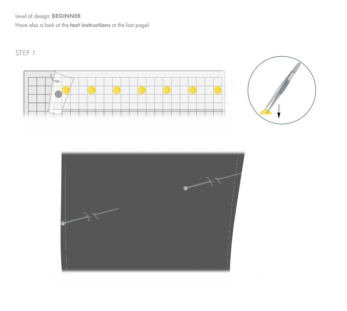 DIY Apply Swarovski Crystals to pants step 1